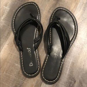 Black Bernardo Leather Sandals